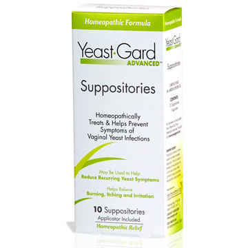 Yeast Gard Advanced Vaginal Suppositories, 10 Count, Lake Consumer Products