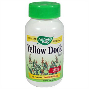 Yellow Dock Root 500mg 100 caps from Nature's Way