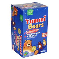 Yummi Bears Multi-Vitamin & Mineral Watermelon 90 bears from Hero Nutritionals