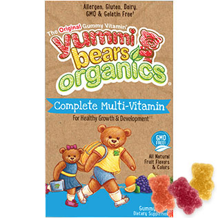 Yummi Bears Organic Complete Multi-Vitamin, Value Size, 180 Gummy Bears