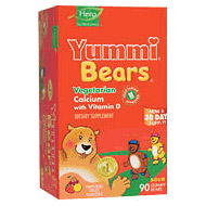Yummi Bears Vegetarian Calcium with Vitamin D 60 bears from Hero Nutritionals