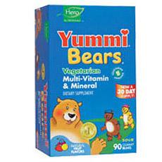 Yummi Bears Vegetarian Multi-Vitamin & Mineral 90 bears from Hero Nutritionals