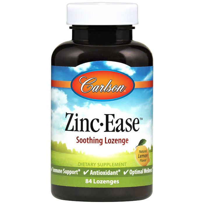 Zinc Ease, 84 Lozenges, Carlson (Vitamins Supplements - Zinc)