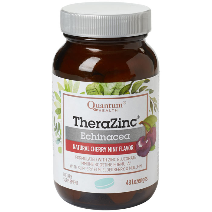 Thera Zinc Echinacea Lozenges, Cherry Mint, 48 loz, Quantum Health