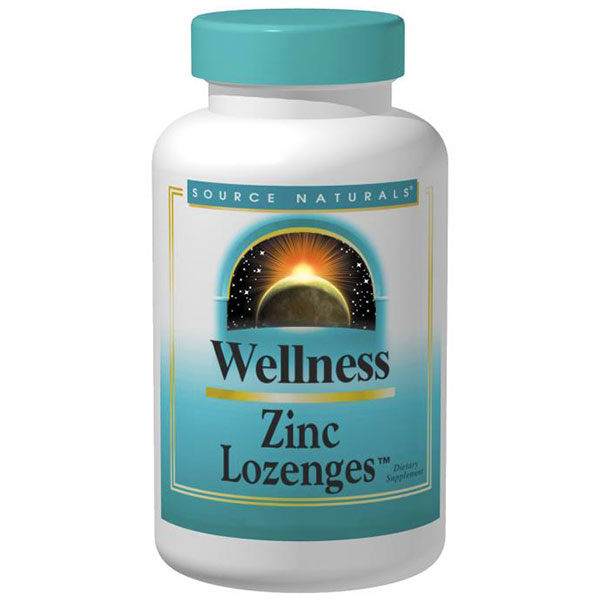 Wellness Zinc Lozenges 23mg 120 loz from Source Naturals (Vitamins Supplements - Zinc)