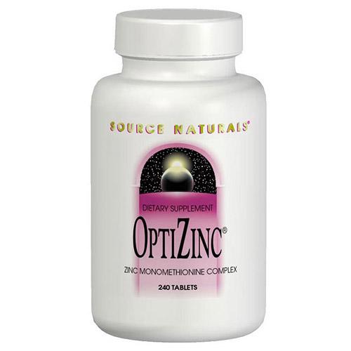 OptiZinc Zinc Monomethionine 30mg 240 tabs from Source Naturals (Vitamins Supplements - Zinc)