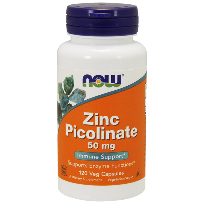 Zinc Picolinate 50mg 120 Caps, NOW Foods