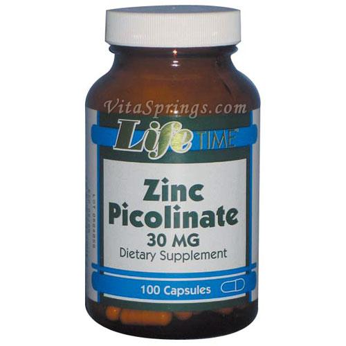 Zinc Picolinate 30 mg, 100 Capsules, LifeTime