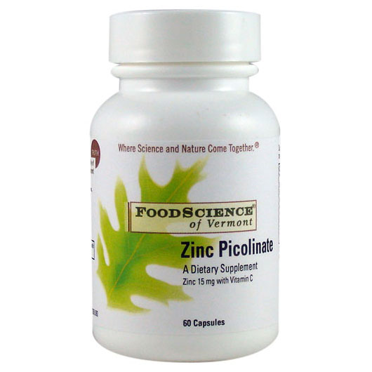 Zinc Picolinate, 60 Capsules, FoodScience Of Vermont (Vitamins Supplements - Zinc)