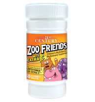 Zoo Friends with Extra C, Childrens Multi-Vitamins, 60 Chewable Tablets, 21st Century HealthCare